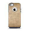 The Woven Fabric Over Aged Wood Apple iPhone 5c Otterbox Commuter Case Skin Set