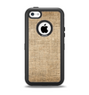 The Woven Fabric Over Aged Wood Apple iPhone 5c Otterbox Defender Case Skin Set