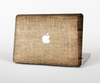 The Woven Fabric Over Aged Wood Skin Set for the Apple MacBook Pro 15""