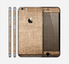 The Woven Fabric Over Aged Wood Skin for the Apple iPhone 6 Plus