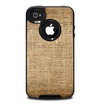 The Woven Fabric Over Aged Wood Skin for the iPhone 4-4s OtterBox Commuter Case