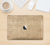 "The Woven Fabric Over Aged Wood Skin Kit for the 12"" Apple MacBook"