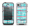 The Woven Trendy Green & Coral Apple iPhone 4-4s LifeProof Fre Case Skin Set