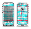 The Woven Trendy Green & Coral Apple iPhone 5-5s LifeProof Fre Case Skin Set