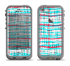 The Woven Trendy Green & Coral Apple iPhone 5c LifeProof Fre Case Skin Set