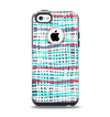 The Woven Trendy Green & Coral Apple iPhone 5c Otterbox Commuter Case Skin Set