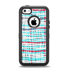 The Woven Trendy Green & Coral Apple iPhone 5c Otterbox Defender Case Skin Set