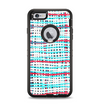 The Woven Trendy Green & Coral Apple iPhone 6 Plus Otterbox Defender Case Skin Set