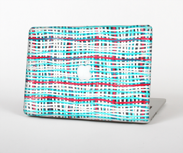 "The Woven Trendy Green & Coral Skin Set for the Apple MacBook Pro 13"" with Retina Display"