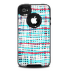 The Woven Trendy Green & Coral Skin for the iPhone 4-4s OtterBox Commuter Case