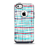 The Woven Trendy Green & Coral Skin for the iPhone 5c OtterBox Commuter Case