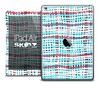 The Woven Turquoise and White Strands Skin for the iPad Air