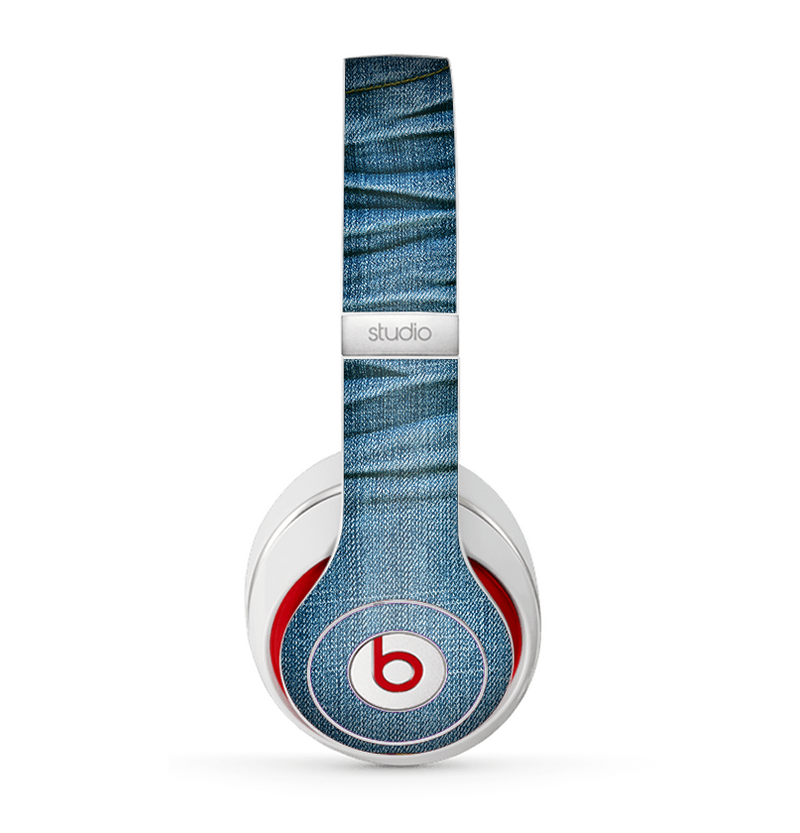 The Wrinkled Jean texture Skin for the Beats by Dre Studio (2013+ Version) Headphones