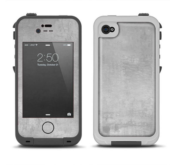 The Wrinkled Silver Surface Apple iPhone 4-4s LifeProof Fre Case Skin Set