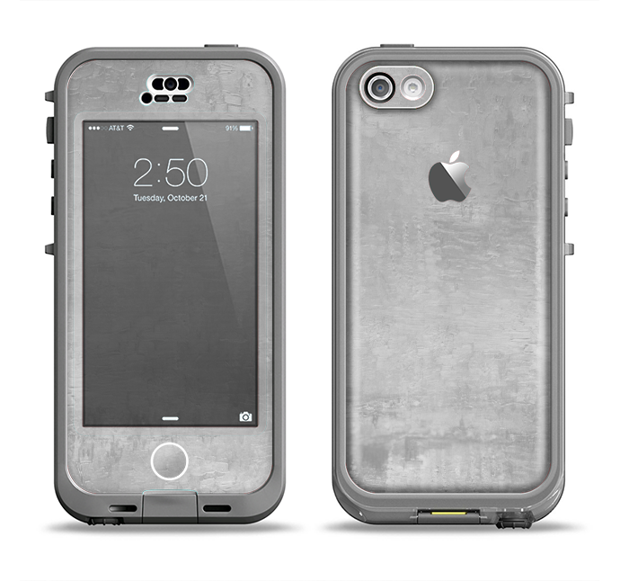 brand new d7a58 0c1d2 The Wrinkled Silver Surface Apple iPhone 5c LifeProof Nuud Case Skin Set
