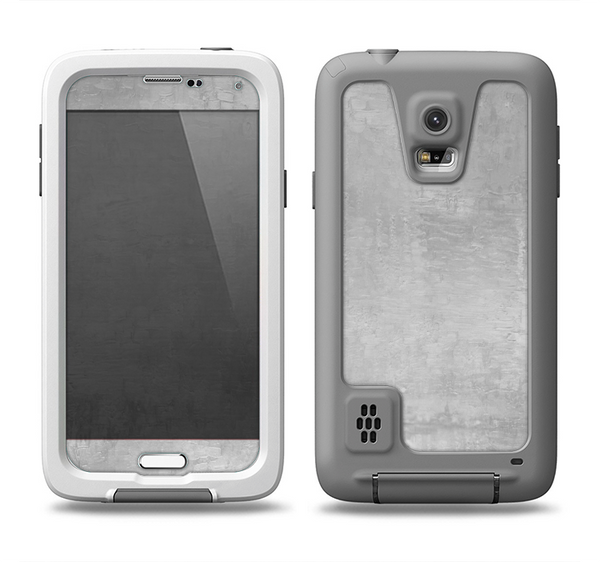 The Wrinkled Silver Surface Samsung Galaxy S5 LifeProof Fre Case Skin Set