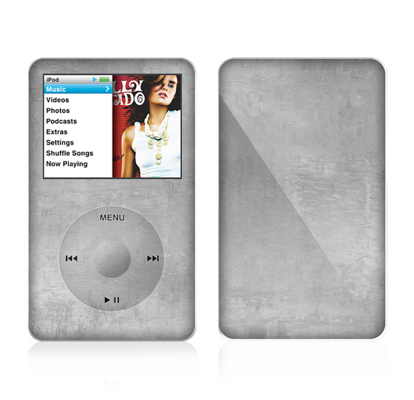 The Wrinkled Silver Surface Skin For The Apple iPod Classic