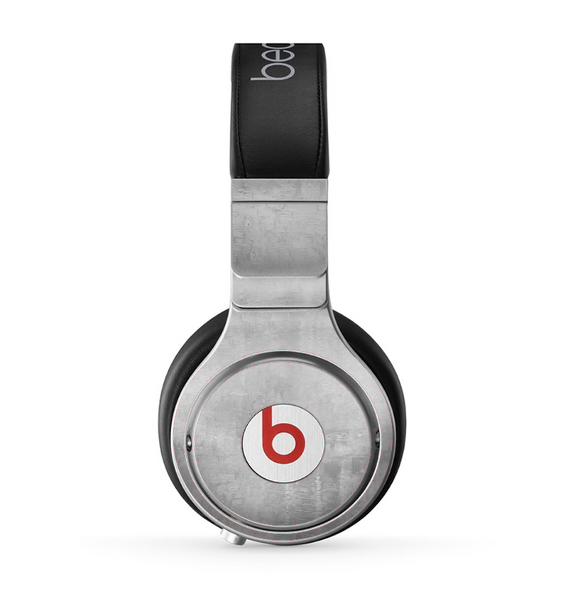 The Wrinkled Silver Surface Skin for the Beats by Dre Pro Headphones