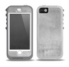 The Wrinkled Silver Surface Skin for the iPhone 5-5s OtterBox Preserver WaterProof Case