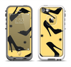 The Yellow & Black High-Heel Pattern V12 Apple iPhone 5-5s LifeProof Fre Case Skin Set