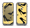 The Yellow & Black High-Heel Pattern V12 Apple iPhone 5c LifeProof Fre Case Skin Set