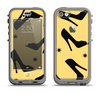 The Yellow & Black High-Heel Pattern V12 Apple iPhone 5c LifeProof Nuud Case Skin Set