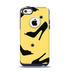 The Yellow & Black High-Heel Pattern V12 Apple iPhone 5c Otterbox Commuter Case Skin Set