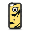 The Yellow & Black High-Heel Pattern V12 Apple iPhone 5c Otterbox Defender Case Skin Set