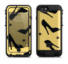 the yellow black high-heel pattern v12  iPhone 6/6s Plus LifeProof Fre POWER Case Skin Kit