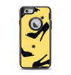 The Yellow & Black High-Heel Pattern V12 Apple iPhone 6 Otterbox Defender Case Skin Set