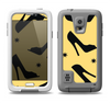 The Yellow & Black High-Heel Pattern V12 Samsung Galaxy S5 LifeProof Fre Case Skin Set