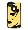 The Yellow & Black High-Heel Pattern V12 Skin for the iPhone 4-4s OtterBox Commuter Case