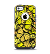 The Yellow Butterfly Bundle Apple iPhone 5c Otterbox Commuter Case Skin Set