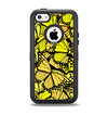 The Yellow Butterfly Bundle Apple iPhone 5c Otterbox Defender Case Skin Set
