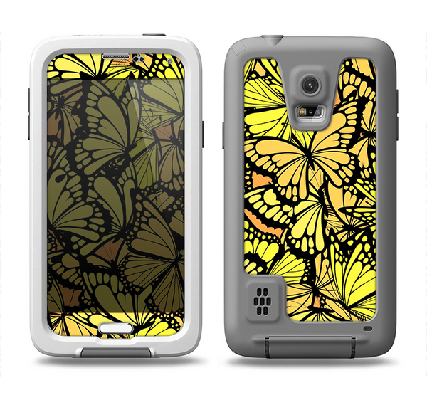 The Yellow Butterfly Bundle Samsung Galaxy S5 LifeProof Fre Case Skin Set
