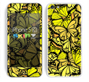 The Yellow Butterfly Bundle Skin for the Apple iPhone 5c