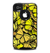 The Yellow Butterfly Bundle Skin for the iPhone 4-4s OtterBox Commuter Case