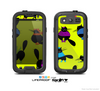 The Yellow & Cute Fashion Cats Skin For The Samsung Galaxy S3 LifeProof Case