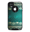 The Yellow Elegant Lace on Green Skin for the iPhone 4-4s OtterBox Commuter Case