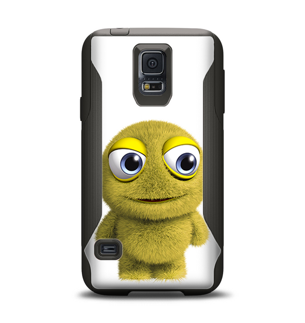 The Yellow Fuzzy Wuzzy Creature Samsung Galaxy S5 Otterbox Commuter Case Skin Set