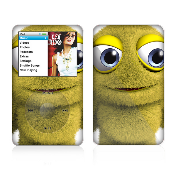 The Yellow Fuzzy Wuzzy Creature Skin For The Apple iPod Classic