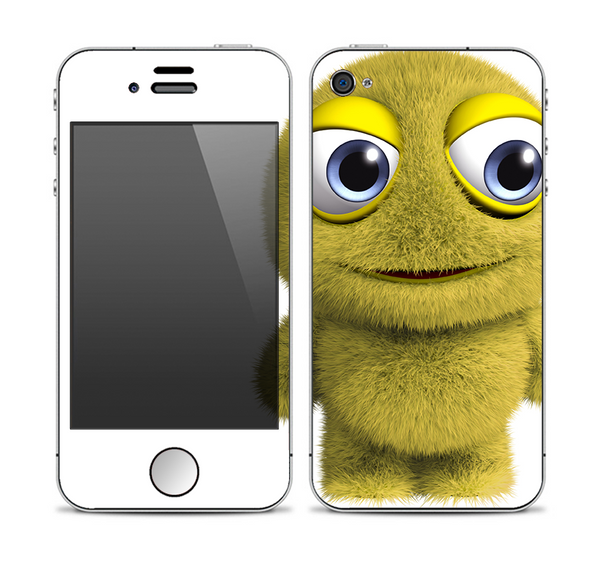 The Yellow Fuzzy Wuzzy Creature Skin for the Apple iPhone 4-4s