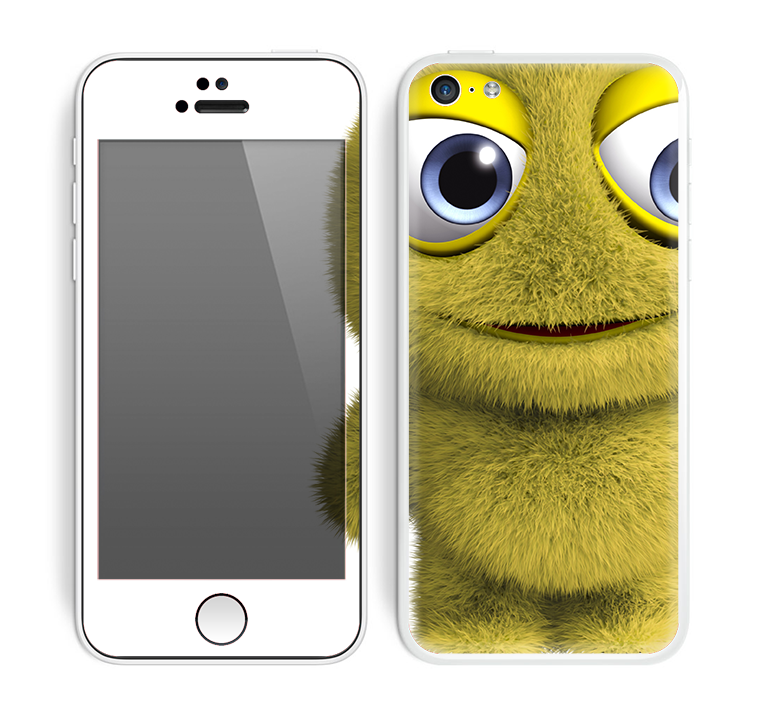 The Yellow Fuzzy Wuzzy Creature Skin for the Apple iPhone 5c