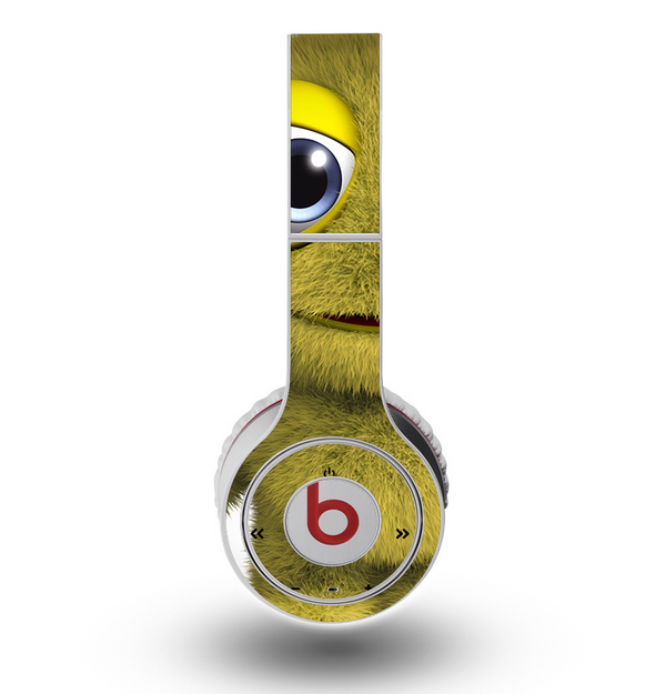 The Yellow Fuzzy Wuzzy Creature Skin for the Original Beats by Dre Wireless Headphones