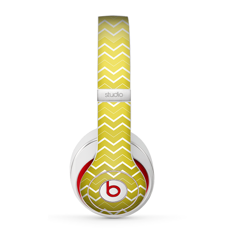 The Yellow Gradient Layered Chevron Skin for the Beats by Dre Studio (2013+ Version) Headphones