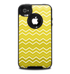 The Yellow Gradient Layered Chevron Skin for the iPhone 4-4s OtterBox Commuter Case