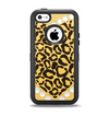 The Yellow Heart Shaped Leopard Apple iPhone 5c Otterbox Defender Case Skin Set