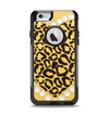 The Yellow Heart Shaped Leopard Apple iPhone 6 Otterbox Commuter Case Skin Set