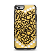 The Yellow Heart Shaped Leopard Apple iPhone 6 Otterbox Symmetry Case Skin Set