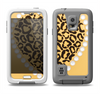 The Yellow Heart Shaped Leopard Samsung Galaxy S5 LifeProof Fre Case Skin Set